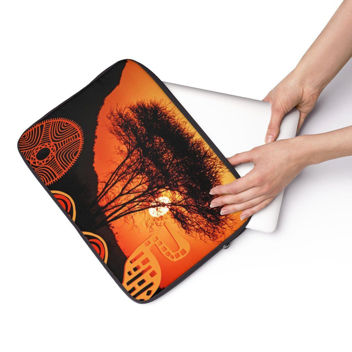 "African | landscape Laptop Sleeve-Tech - Accessories - Laptop Sleeves-Maison d'Elite-13""-Très Elite"