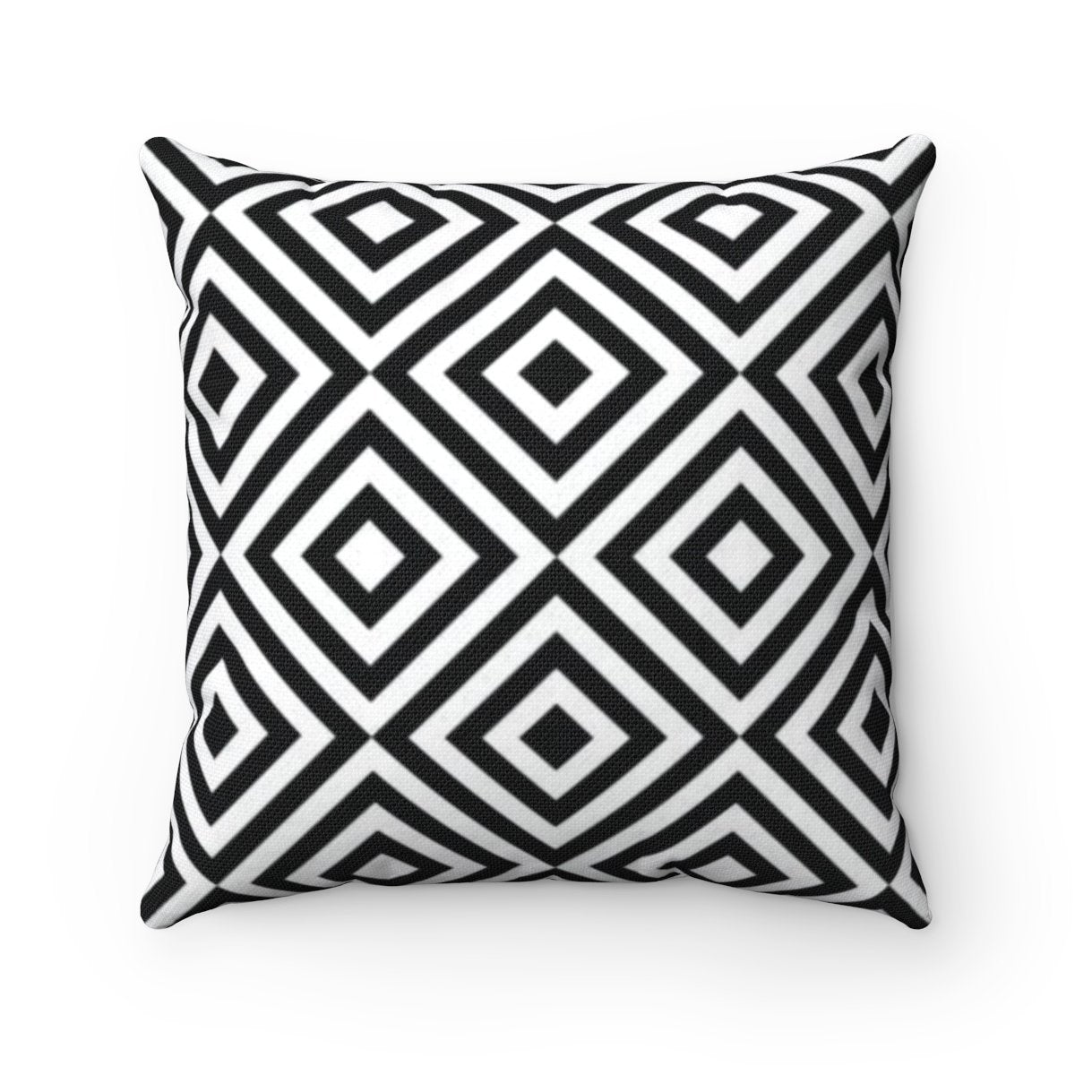 Black and White abstract decorative cushion cover-Home Decor - Decorative Accents - Pillows & Throws - Decorative Pillows-Maison d'Elite-14x14-Très Elite