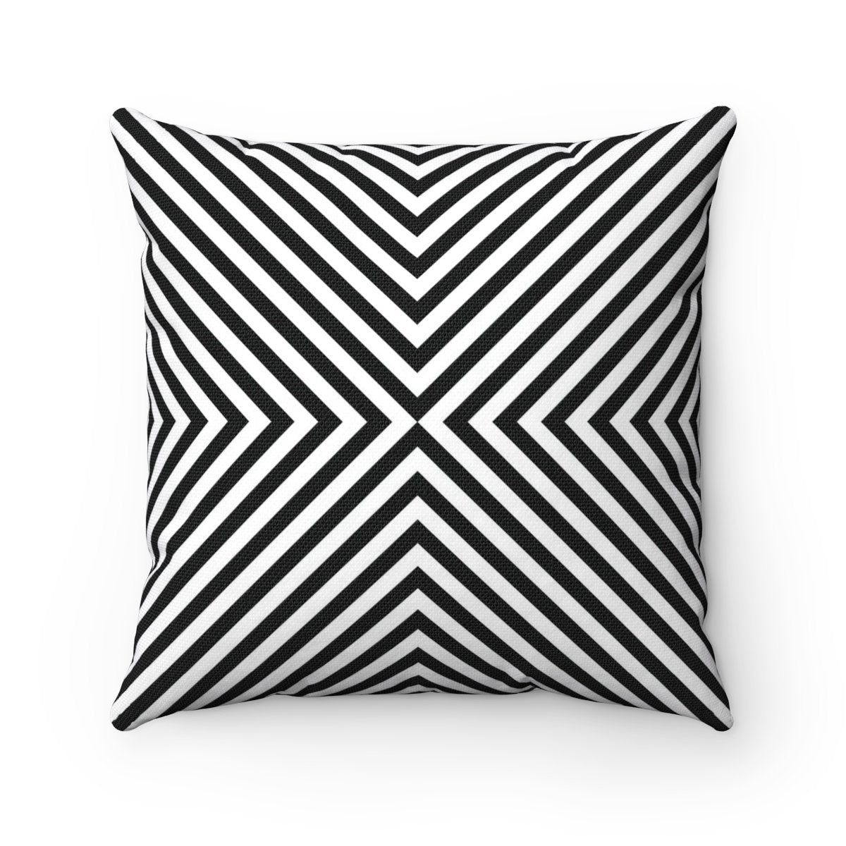 Black and white geometric contemporary decorative cushion cover-Home Decor - Decorative Accents - Pillows & Throws - Decorative Pillows-Maison d'Elite-Très Elite