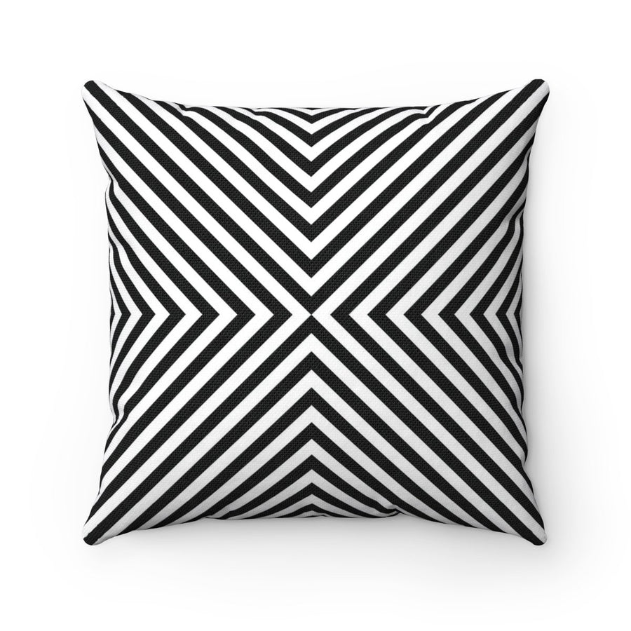 Black and white geometric contemporary decorative cushion cover