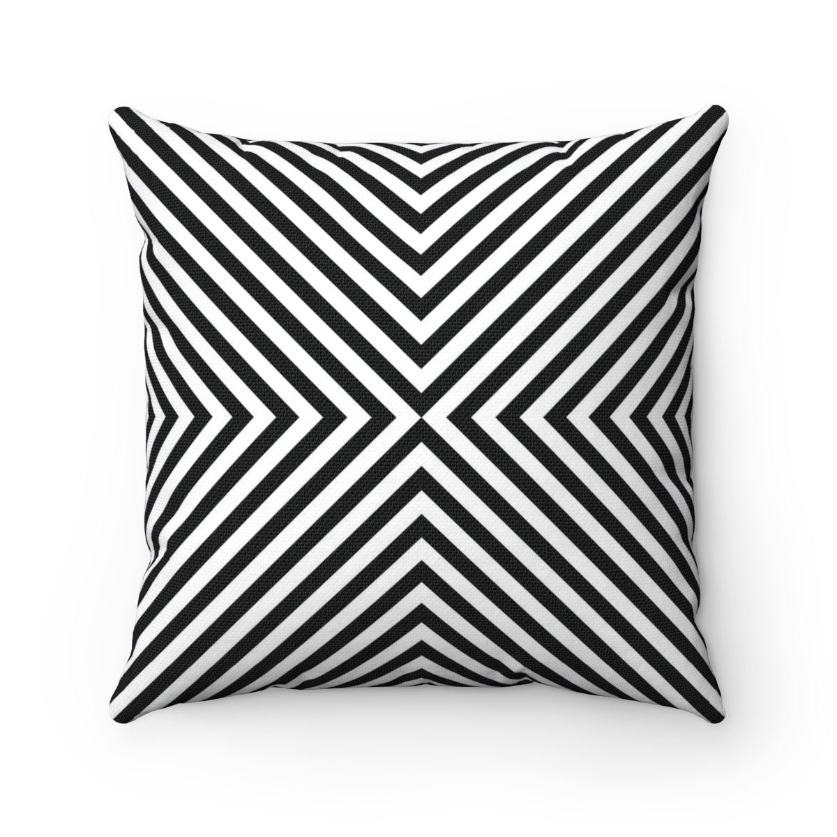Black and white geometric contemporary decorative cushion cover-Home Decor - Decorative Accents - Pillows & Throws - Decorative Pillows-Maison d'Elite-14x14-Très Elite