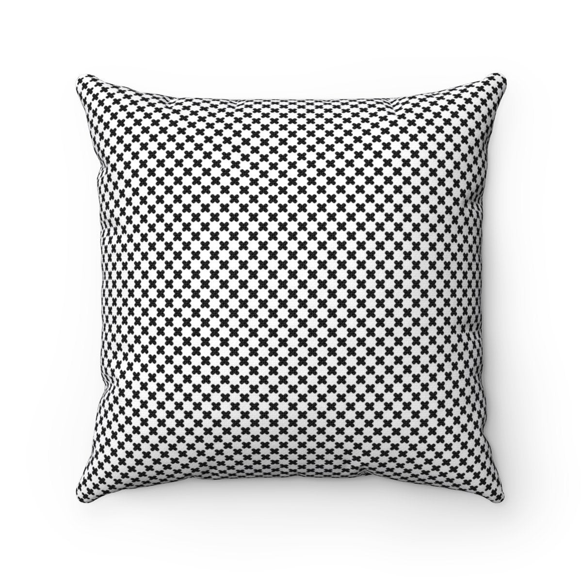 Black and White polka crosses decorative cushion cover-Home Decor - Decorative Accents - Pillows & Throws - Decorative Pillows-Maison d'Elite-14x14-Très Elite