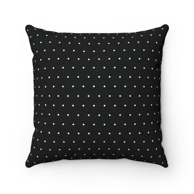 Black and white polka dots decorative cushion cover-Home Decor - Decorative Accents - Pillows & Throws - Decorative Pillows-Maison d'Elite-16x16-Très Elite