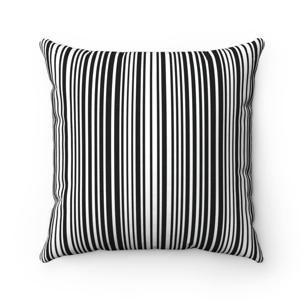 Black And White Stripes Contemporary Decorative Cushion Cover Tres Elite