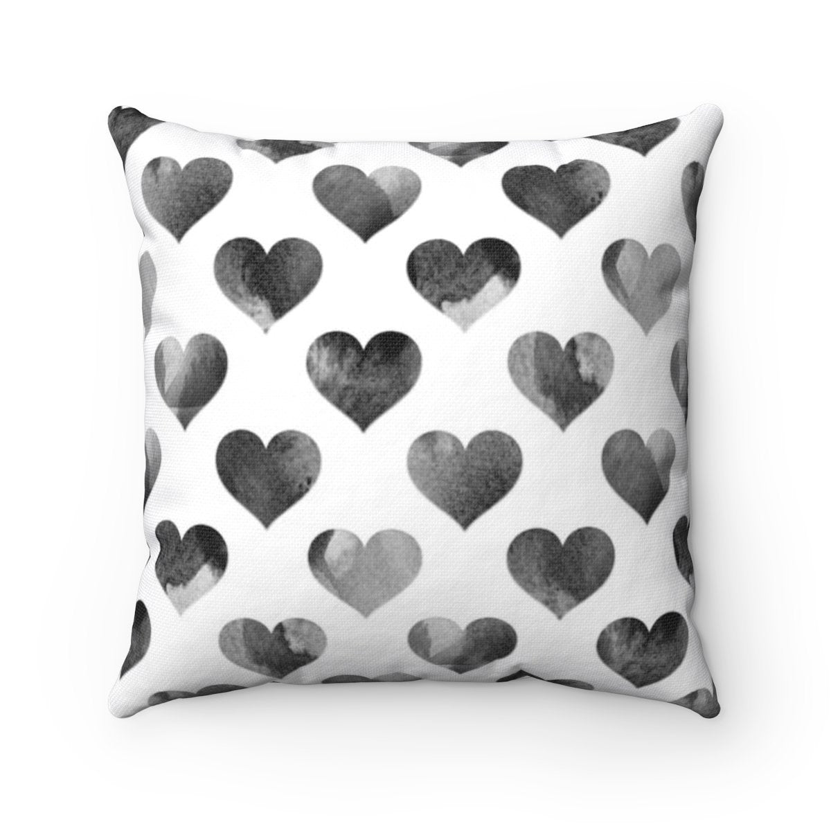 Black hearts Valentine decorative cushion cover for girls-Home Decor - Decorative Accents - Pillows & Throws - Decorative Pillows-Maison d'Elite-Très Elite
