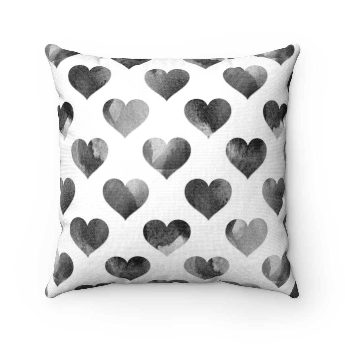 Black hearts Valentine decorative cushion cover for girls-Home Decor - Decorative Accents - Pillows & Throws - Decorative Pillows-Maison d'Elite-14x14-Très Elite