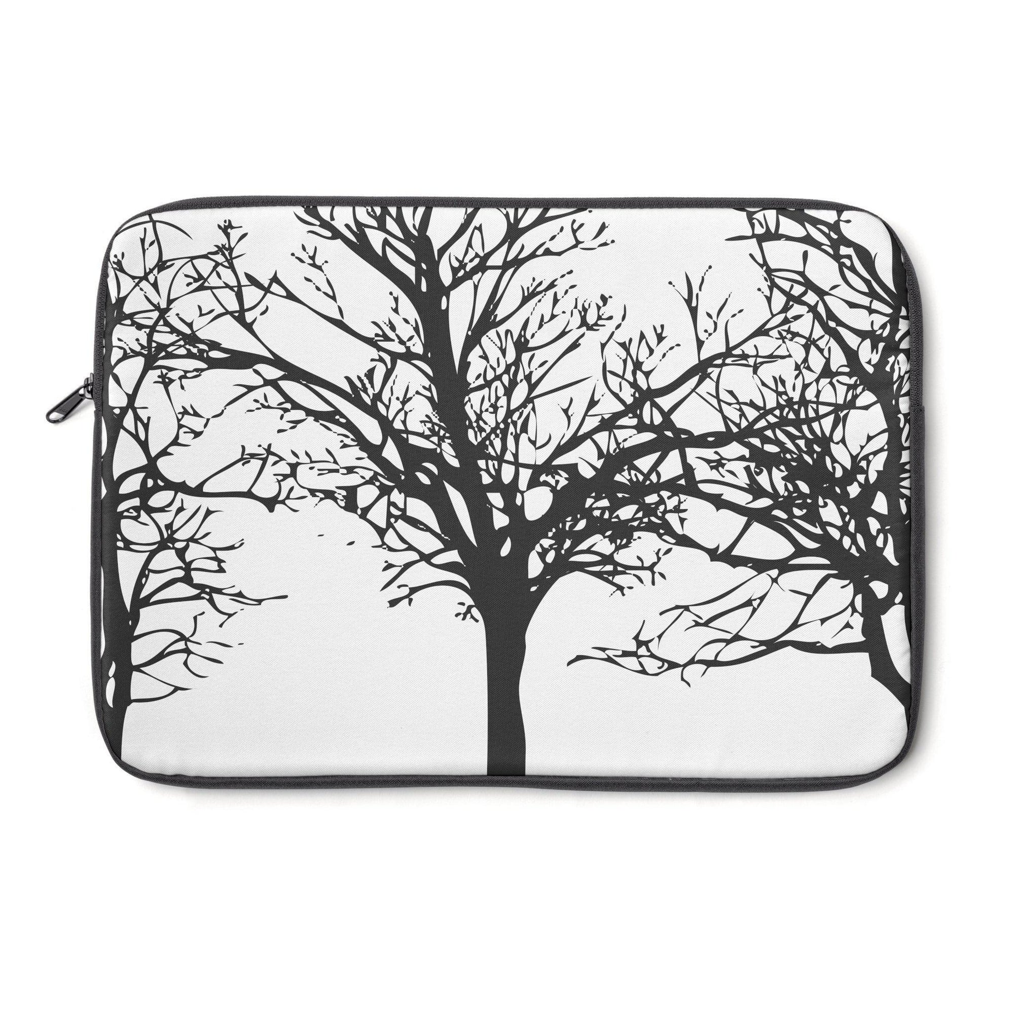 "Black Wintertrees Laptop Sleeve-Tech - Accessories - Laptop Sleeves-Maison d'Elite-13""-Très Elite"