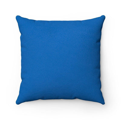 Blue Faux suede 2 in 1 Mexican decorative pillow w/insert-Home Decor - Decorative Accents - Pillows & Throws - Decorative Pillows-Maison d'Elite-Très Elite