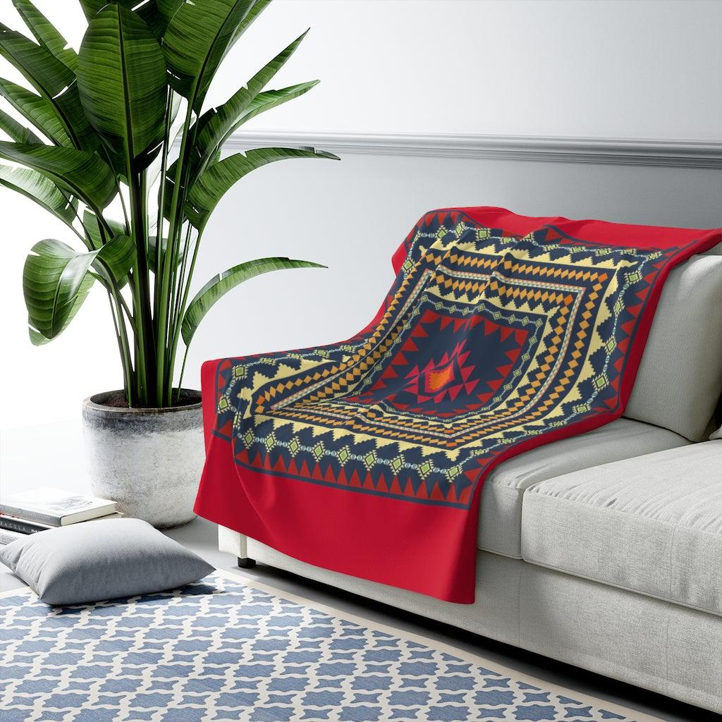 Tribal Sherpa Fleece Blanket