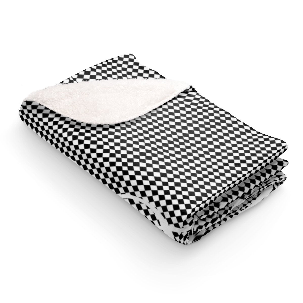 Classic Checkered Christmas Sherpa Fleece Blanket-Home Decor-Maison d'Elite-50x60-Très Elite