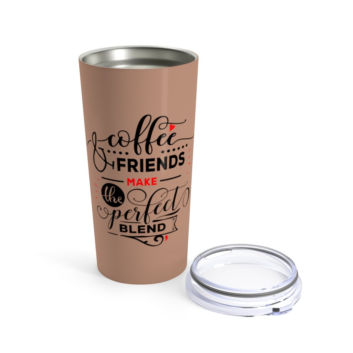 Coffee and friends - 20oz Stainless steel travel tumbler-Mug-Printify-20oz-Très Elite