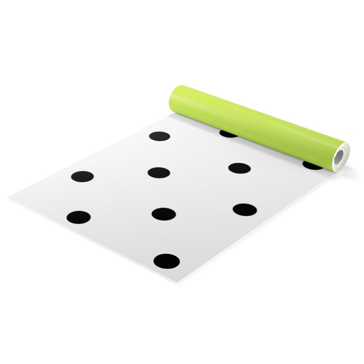 Contemporary polka Yoga mat-Home - Gym Equipment - Yoga mats-Maison d'Elite-One size-Très Elite