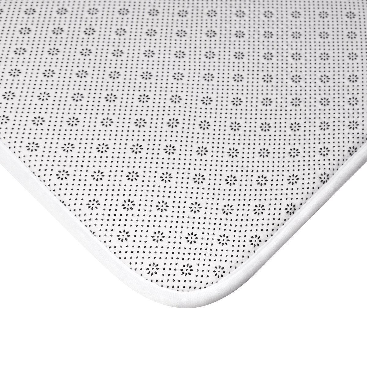 Contemporary striped anti-slip memory foam Bath Mat-Bath - Bath Linens - Bath Mats-Maison d'Elite-Très Elite