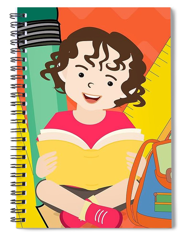 Cute boy - Spiral Notebook