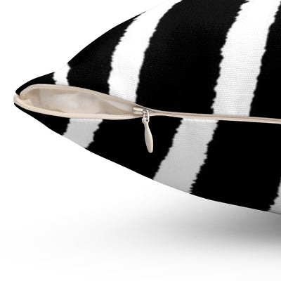 Black and white zebra cushion cover
