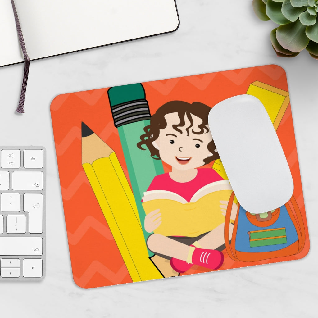 Super cute boy learning Mousepad