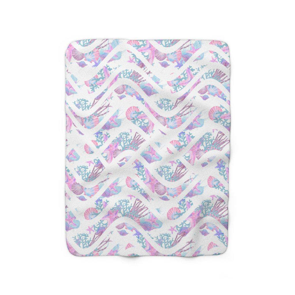 Mermaid Sherpa Fleece Blanket