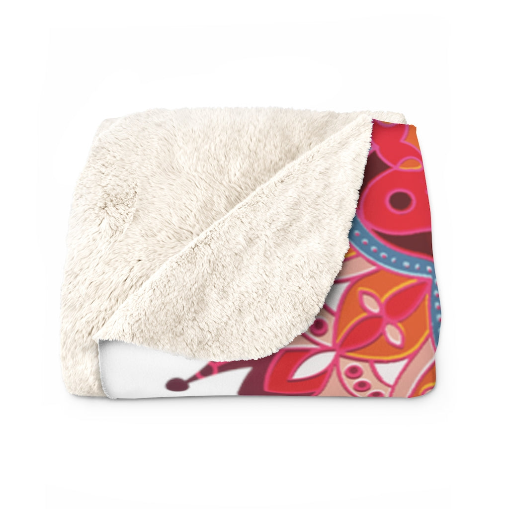 Mandala Sherpa Fleece Blanket