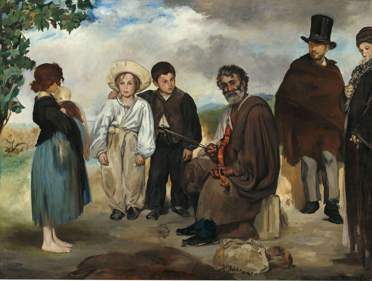 Edouard Manet - The Old Musician-Giclée-Masters Prints-47.6 cm x 60.0 cm, 18.7 inches x 23.6 inches-Très Elite