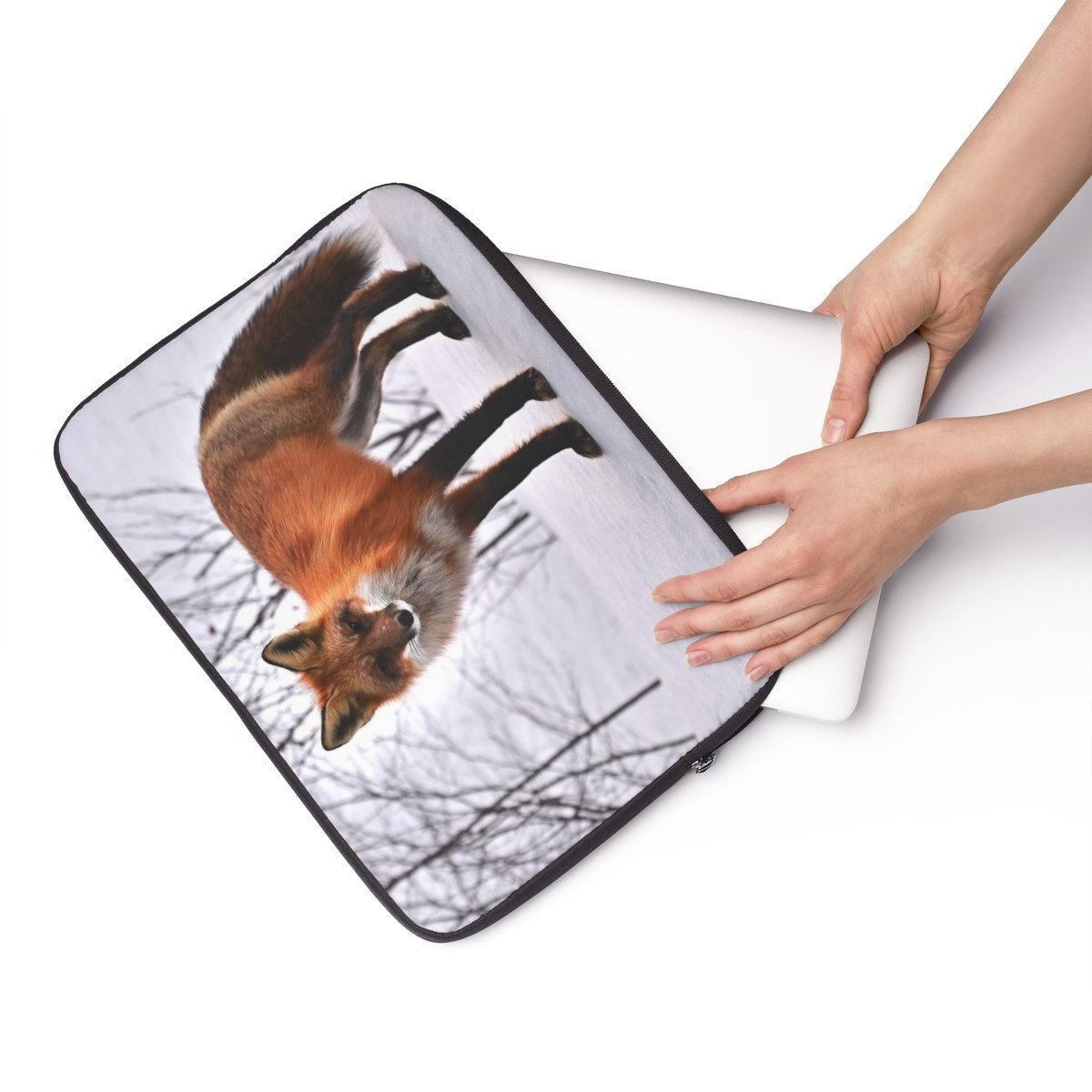 "Fire fox Laptop Sleeve-Tech - Accessories - Laptop Sleeves-Printify-13""-Très Elite"