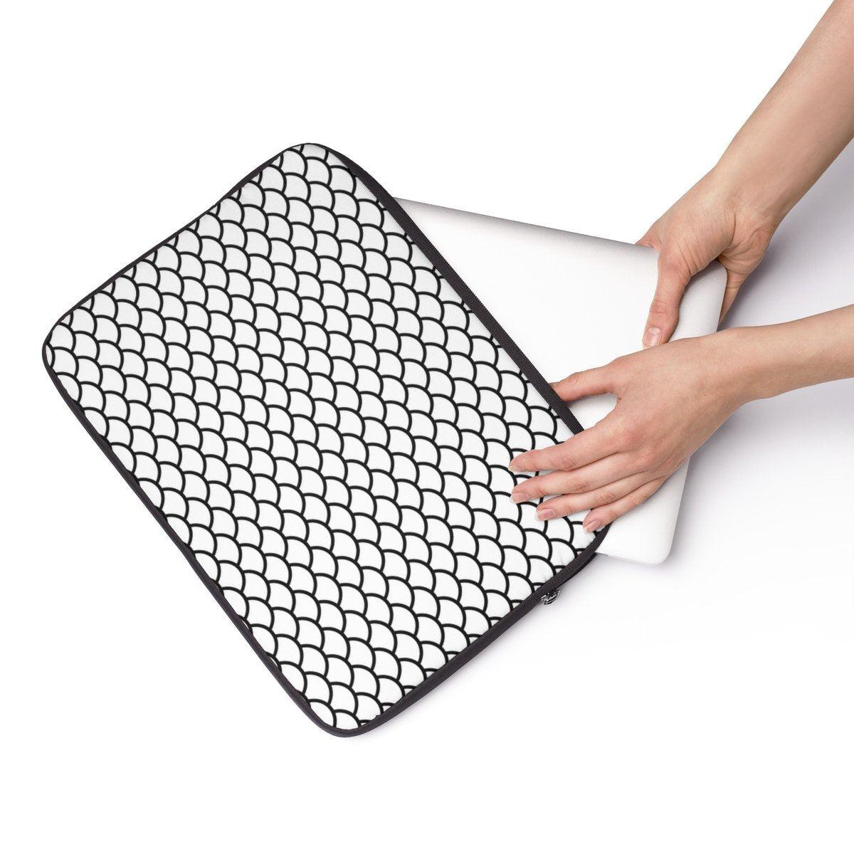 "Fish scales Laptop Sleeve-Tech - Accessories - Laptop Sleeves-Printify-13""-Très Elite"