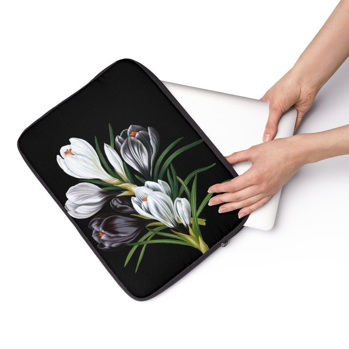 "Floral Laptop Sleeve-Tech - Accessories - Laptop Sleeves-Printify-13""-Très Elite"