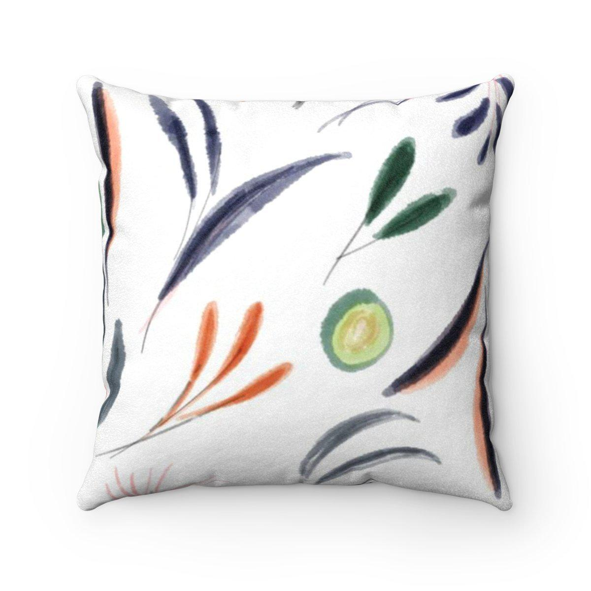 Floral microfiber 2 in 1 decorative pillow w/insert-Home Decor - Decorative Accents - Pillows & Throws - Decorative Pillows-Maison d'Elite-Très Elite