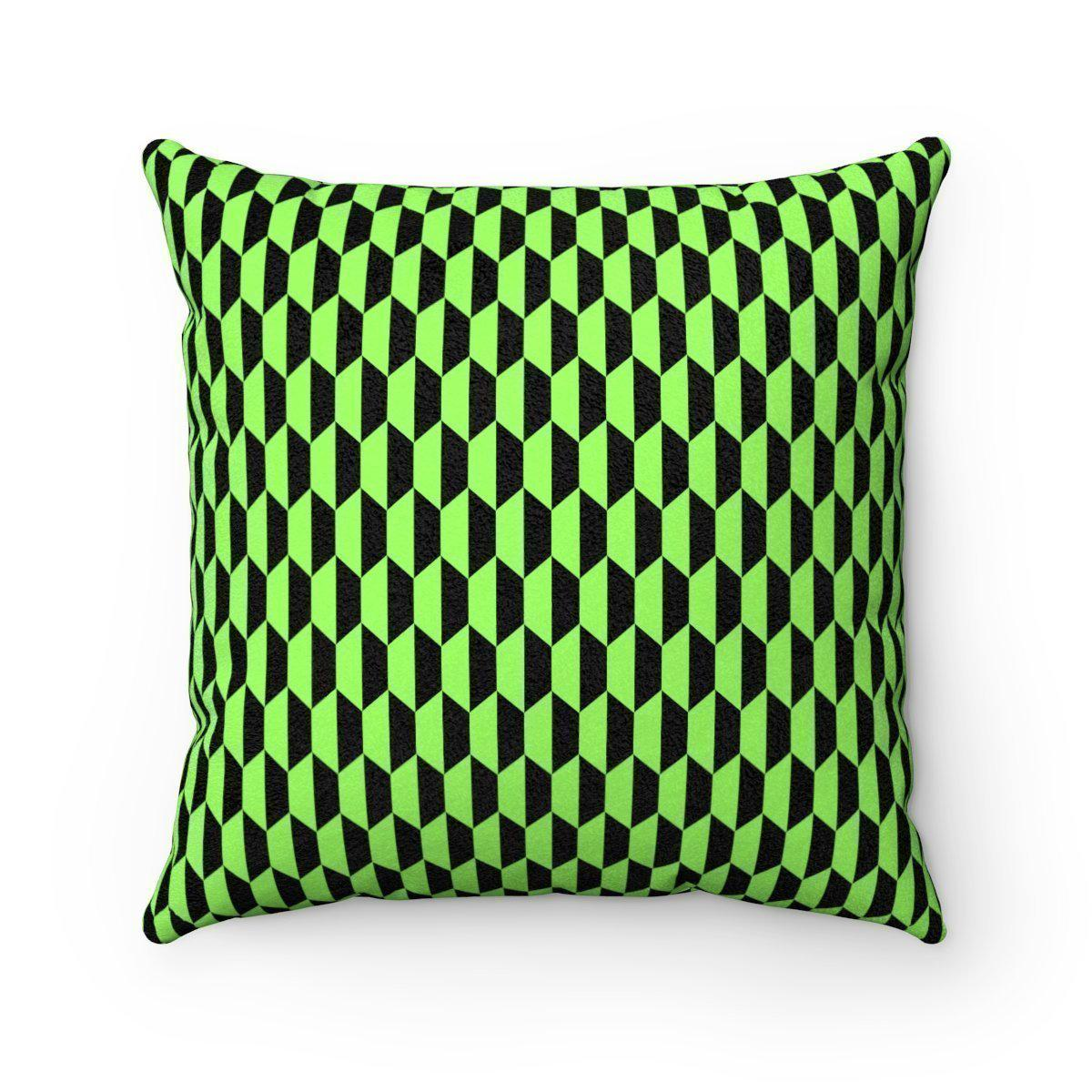 Geometric animal-friendly microfiber decorative pillow w/insert-Home Decor - Decorative Accents - Pillows & Throws - Decorative Pillows-Maison d'Elite-14x14-Très Elite