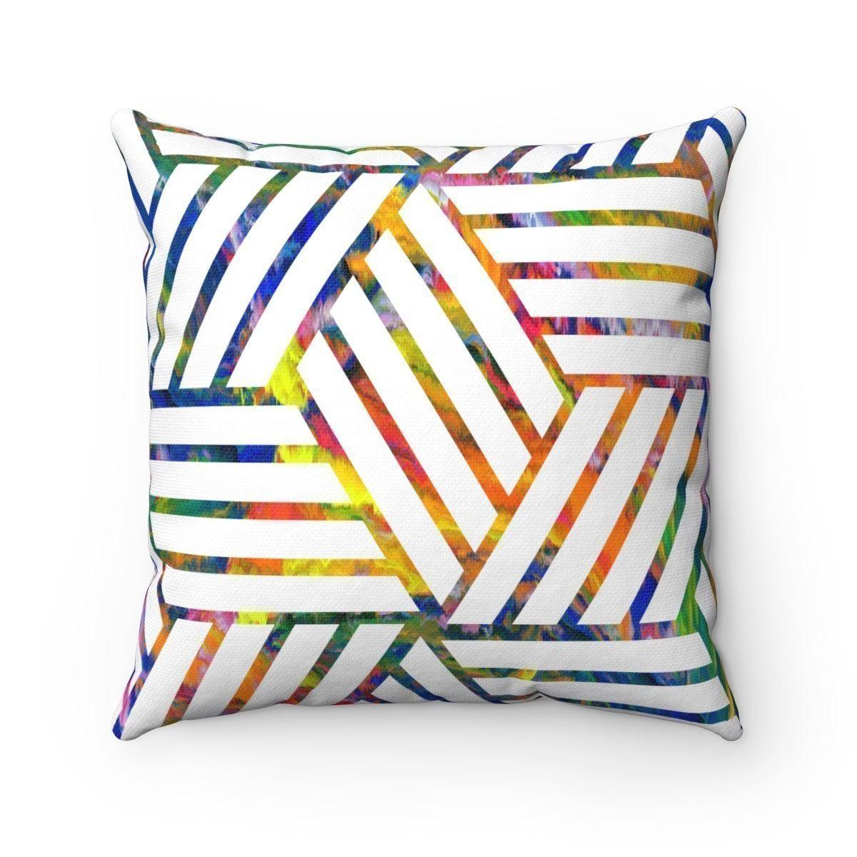 Geometric decorative cushion cover-Home Decor - Decorative Accents - Pillows & Throws - Decorative Pillows-Maison d'Elite-Très Elite