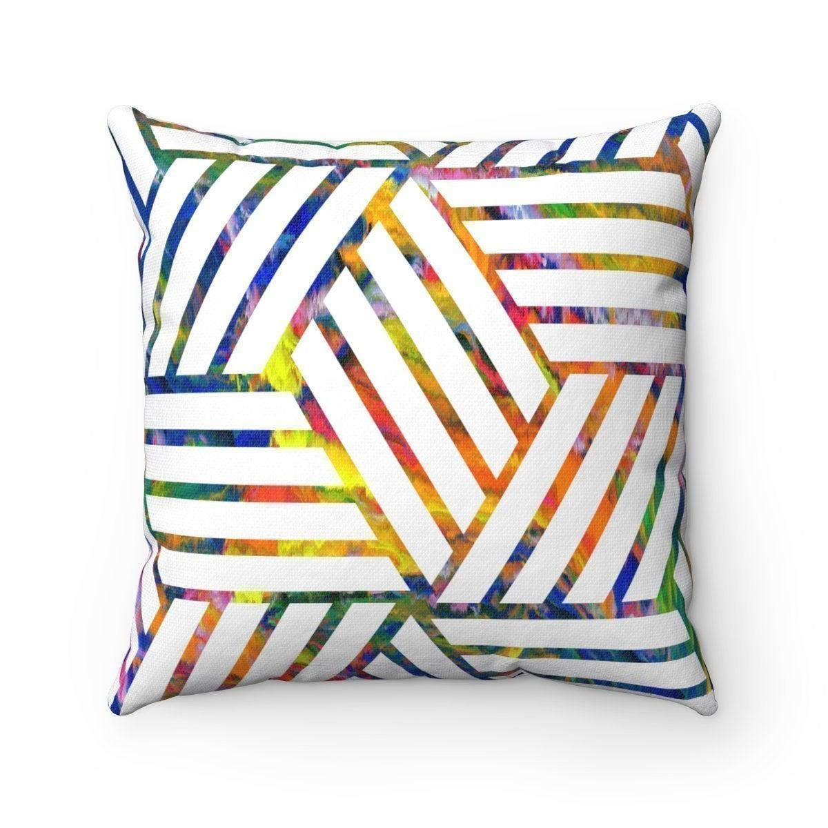 Geometric decorative cushion cover-Home Decor - Decorative Accents - Pillows & Throws - Decorative Pillows-Maison d'Elite-14x14-Très Elite