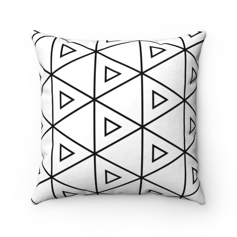 Geometric Faux suede decorative cushion gift for mom-Home Decor - Decorative Accents - Pillows & Throws - Decorative Pillows-Maison d'Elite-14x14-Très Elite