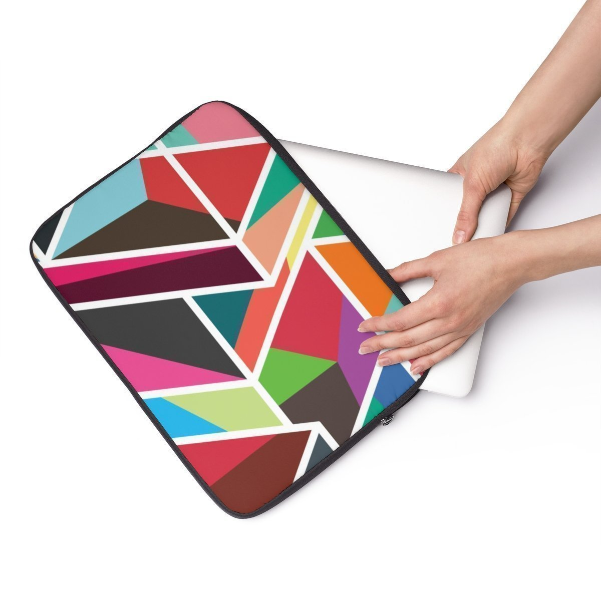 "Geometric Laptop Sleeve-Tech - Accessories - Laptop Sleeves-Printify-13""-Très Elite"