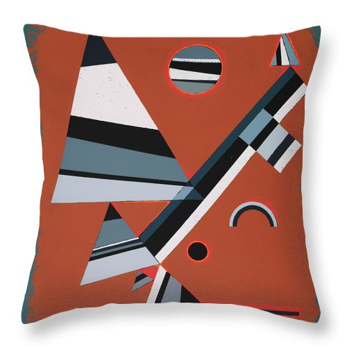 Gris by Wassily Kandinsky - Throw Pillow