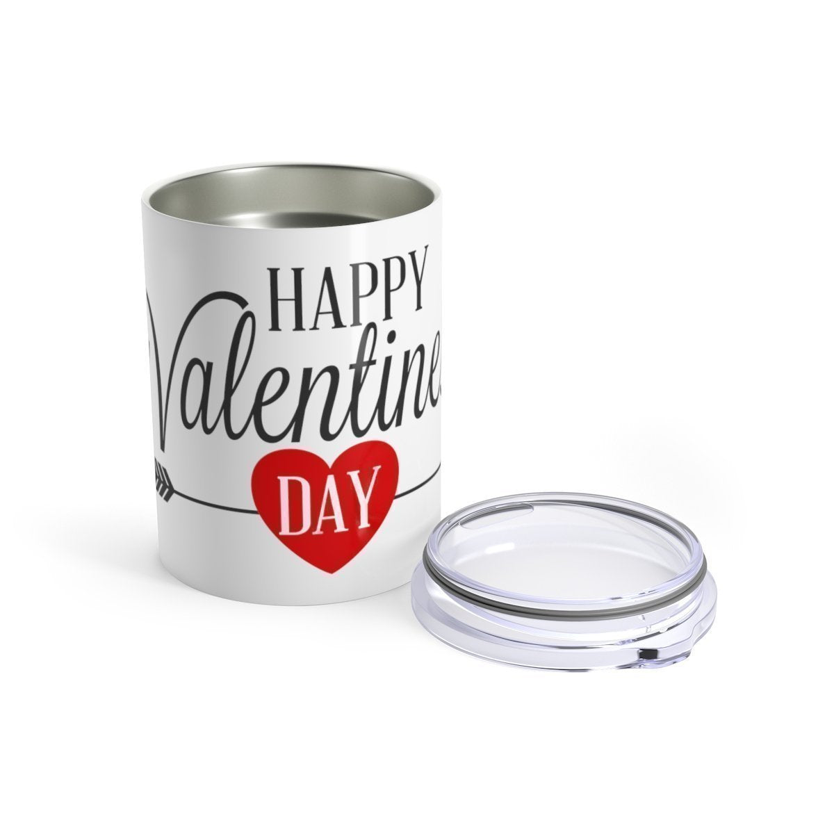 Happy Valentine stainless steel travel insulated drink tumbler, 10oz-Mug-Printify-10oz-Très Elite