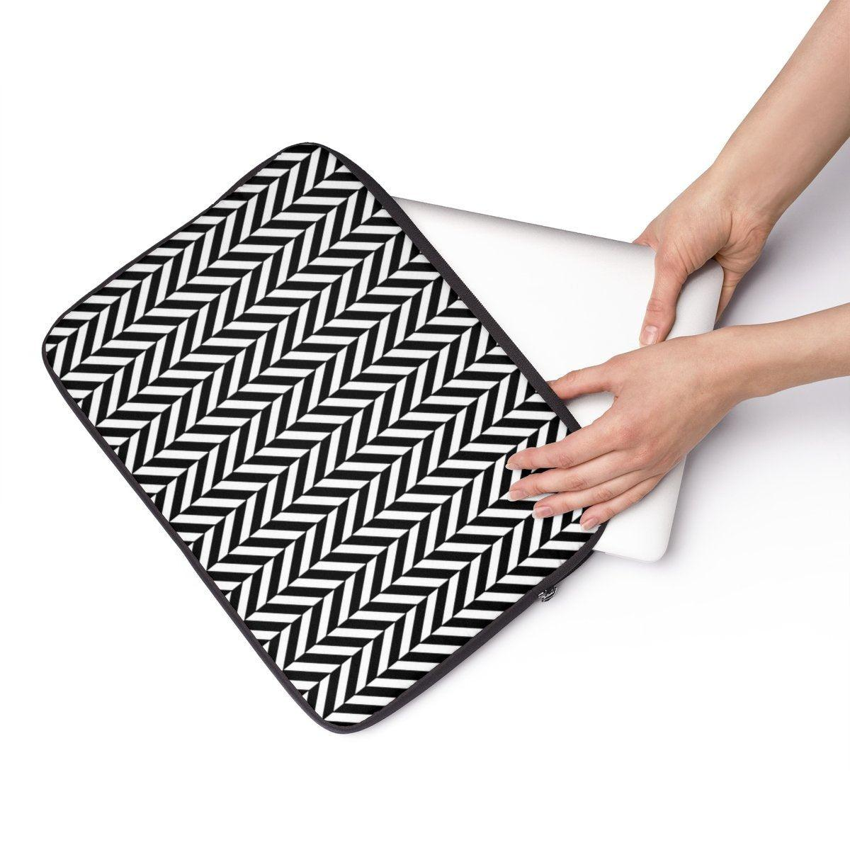 "Herringbone Laptop Sleeve-Tech - Accessories - Laptop Sleeves-Printify-13""-Très Elite"