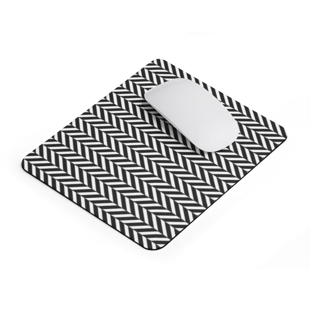 Herringbone rectangular Mouse pad-Home Decor-Printify-Rectangle-Très Elite