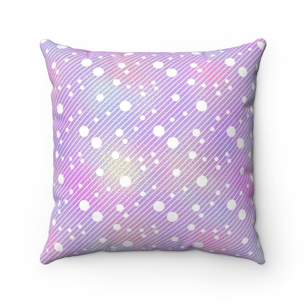 Hologram White dots on striped decorative cushion cover-Home Decor - Decorative Accents - Pillows & Throws - Decorative Pillows-Maison d'Elite-14x14-Très Elite
