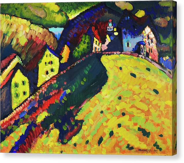 Houses at Murnau by Wassily Kandinsky - Canvas Print