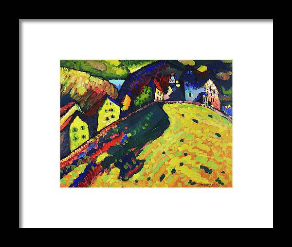 Houses at Murnau by Wassily Kandinsky - Framed Print