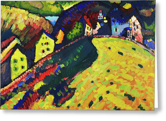 Houses at Murnau by Wassily Kandinsky - Greeting Card