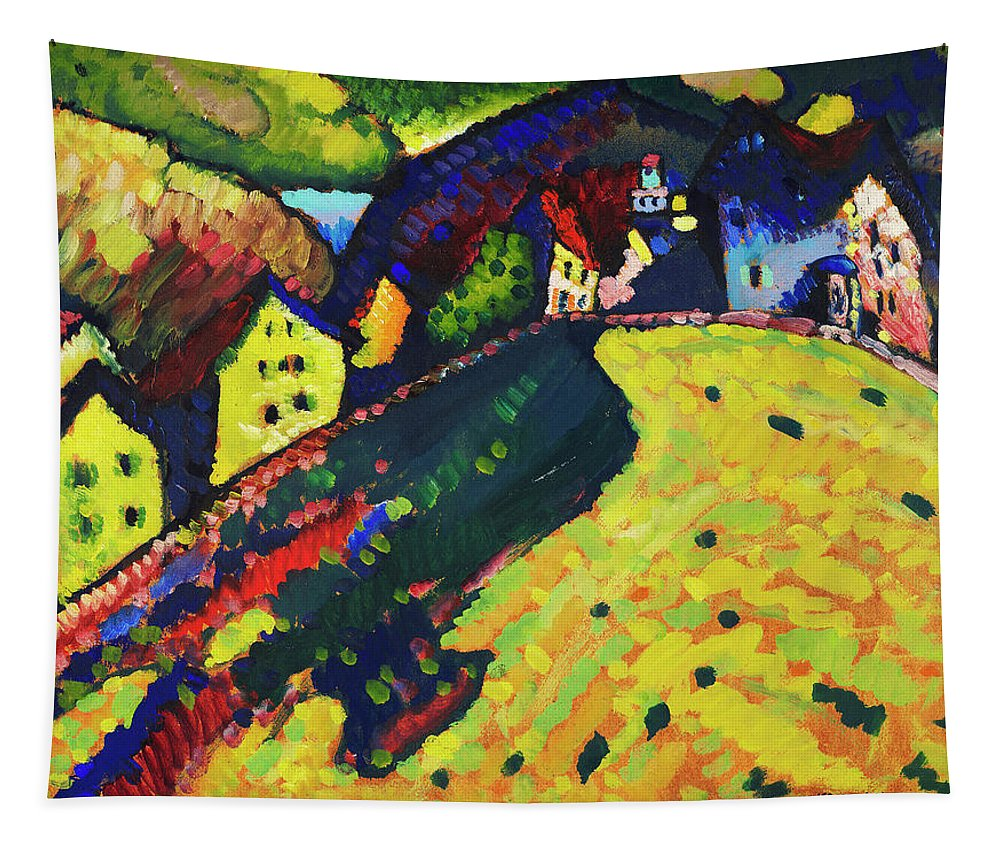 Houses at Murnau by Wassily Kandinsky - Tapestry