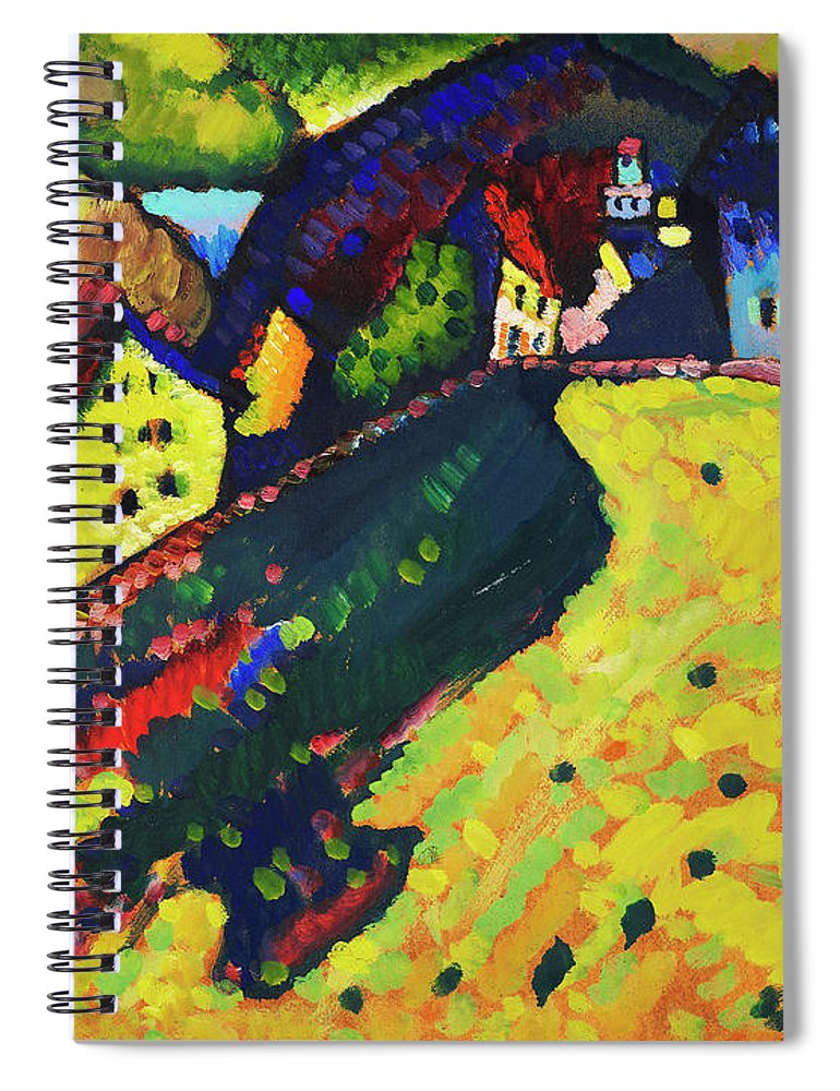 Houses at Murnau by Wassily Kandinsky - Spiral Notebook