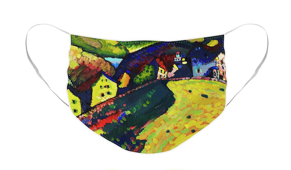 Houses at Murnau by Wassily Kandinsky - Face Mask
