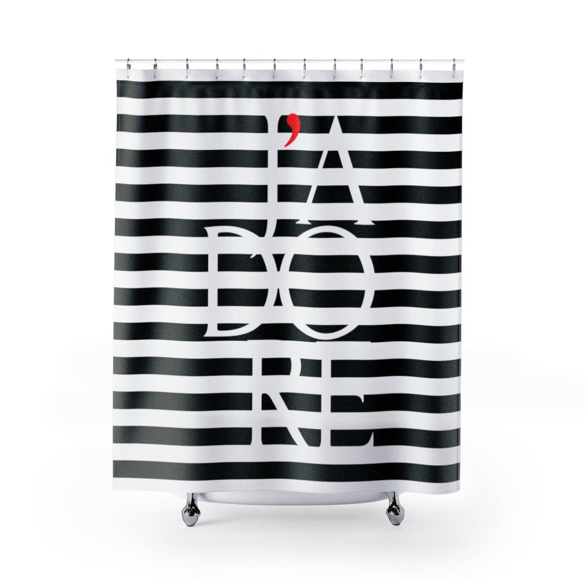 J'adore Shower Curtain-Bath - Bathroom Accessories - Shower Accessories - Shower Curtains-Maison d'Elite-71x74-Très Elite