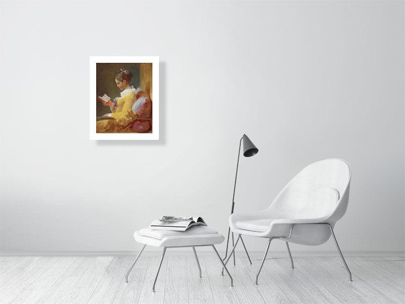 Jean Honoré Fragonard - Young Girl Reading-Giclée-Masters Prints-49.6 cm x 60.0 cm, 19.5 inches x 23.6 inches-Très Elite