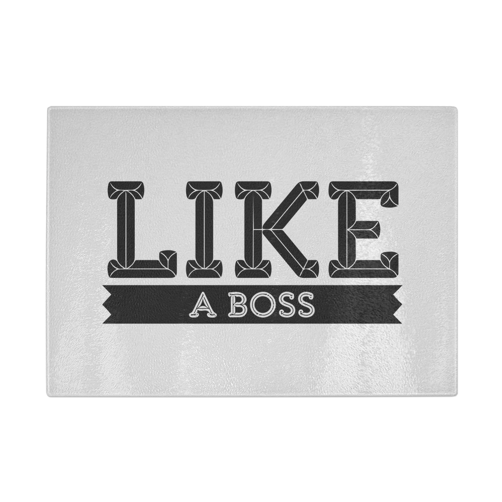 Like a boss hygienic tempered glass cutting board-Home & Kitchen › Kitchen & Dining › Cutlery & Knife Accessories › Cutting Boards-Maison d'Elite-LAB1001-Très Elite