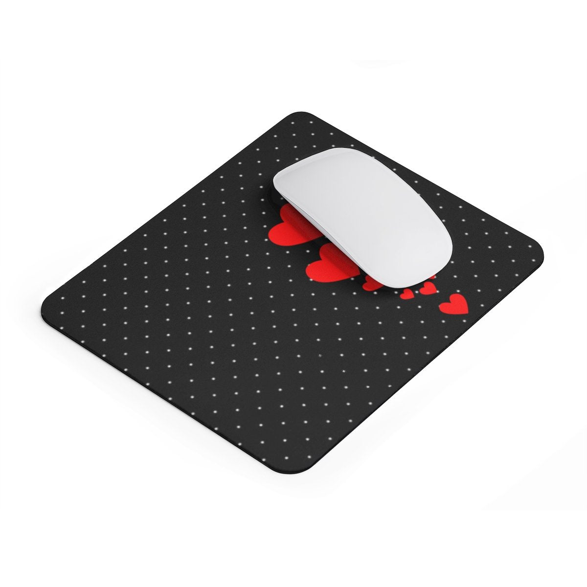 Love Hearts Polka dots rectangular Mouse pad-Home Decor-Printify-Rectangle-Très Elite