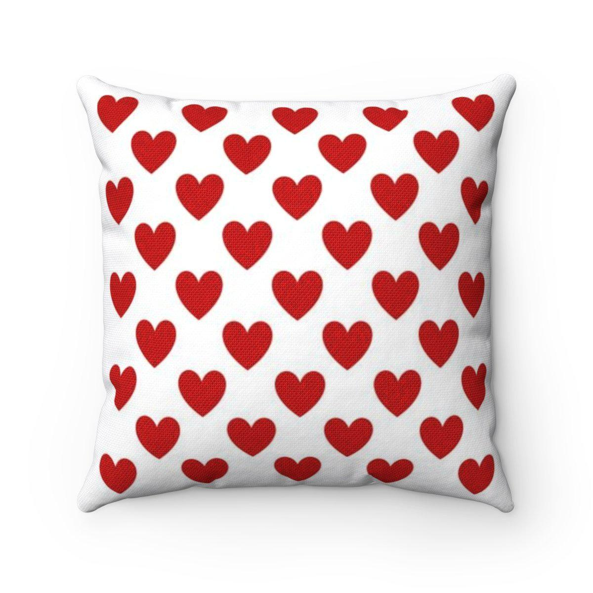 Love | Romantic | Valentine Hearts decorative cushion cover-Home Decor - Decorative Accents - Pillows & Throws - Decorative Pillows-Maison d'Elite-14x14-Très Elite