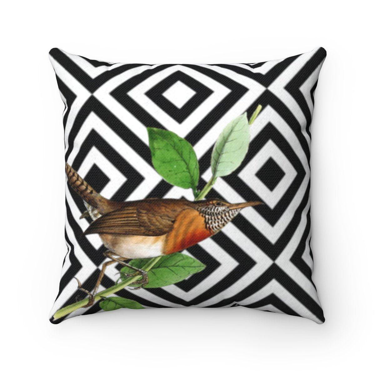 Luxury bird abstract decorative cushion cover-Home Decor - Decorative Accents - Pillows & Throws - Decorative Pillows-Maison d'Elite-14x14-Très Elite