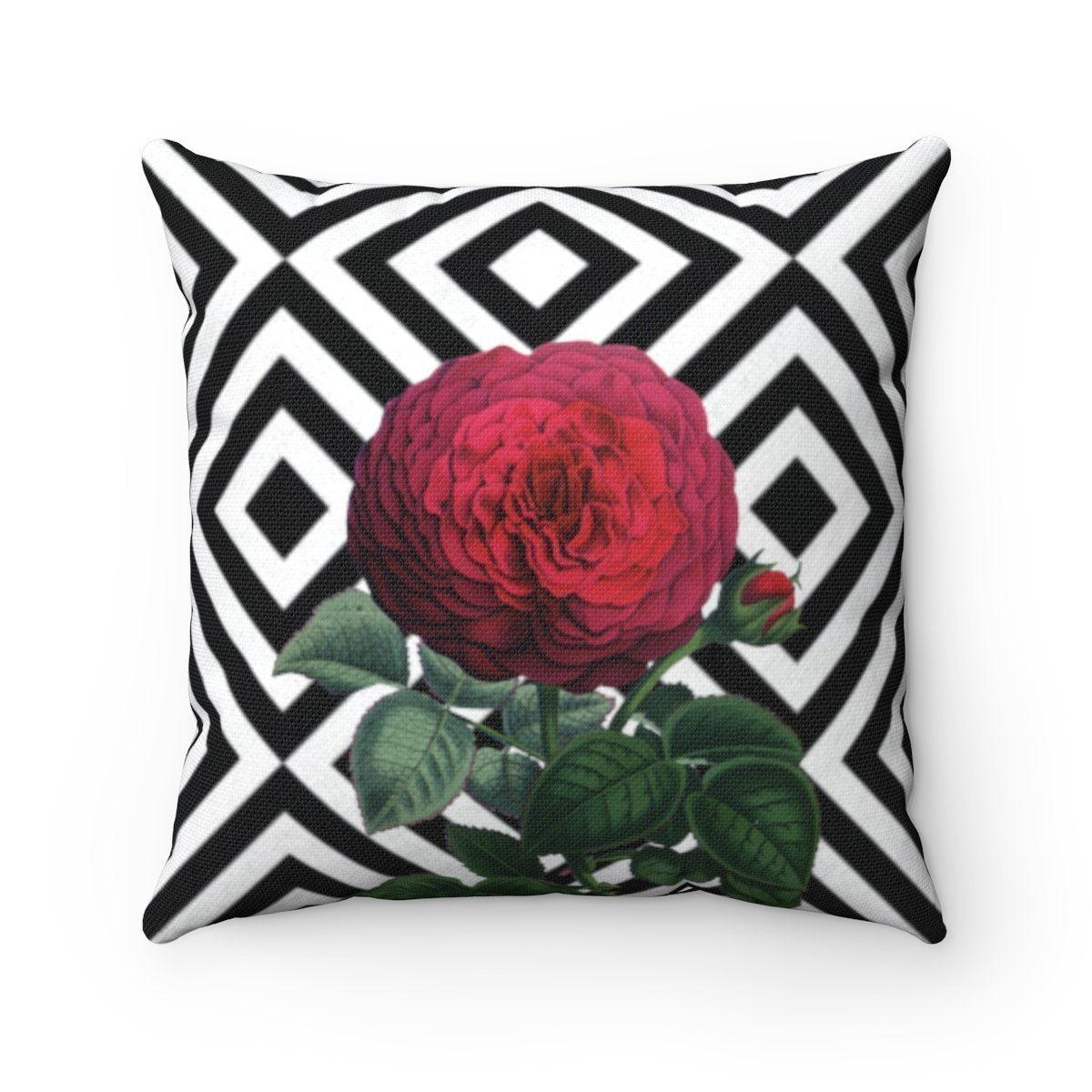 Luxury camellia | Floral abstract decorative cushion cover-Home Decor - Decorative Accents - Pillows & Throws - Decorative Pillows-Maison d'Elite-14x14-Très Elite